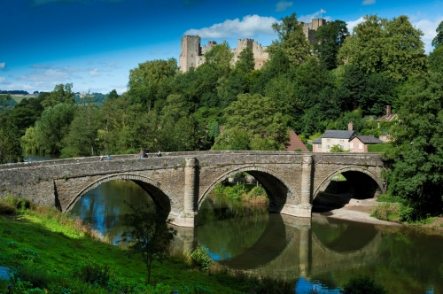 Dinham Bridge in Ludlow Shropshire