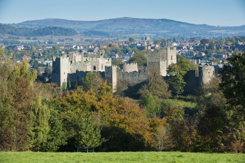 Ludlow Castle from Whitcliffe Shropshire